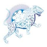 Tiger sun Stock Image