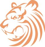 Tiger Swish Style. An illustration of a tiger drawn in swish style Royalty Free Stock Photos