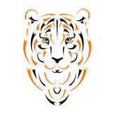 Tiger, symbol year. Vector illustration Stock Images