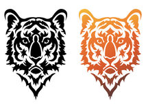 Tiger Tattoo. Illustration of stylized tribal tiger tattoo vector illustration