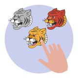 Tiger tattoo in traditional style. Old school stock illustration
