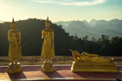 Tiger temple buddhas 3. Buddha shrine with a view at the tiger temple in krabi - thailand Stock Image