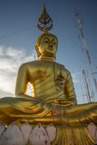 Tiger temple Golden Buddha Royalty Free Stock Photography