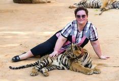 Tiger Temple in Kanchanaburi, Thailand Royalty Free Stock Image
