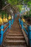 Tiger temple steps. Steps to the tiger temple in krabi - thailand Royalty Free Stock Photography