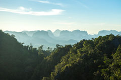 Tiger temple view. Tiger cave mountain view at krabi - thailand Stock Photography
