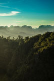 Tiger temple view 2. View from the tiger temple in krabi - thailand Stock Photo