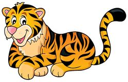 Tiger theme image 1 Royalty Free Stock Photo