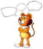 A tiger thinking Royalty Free Stock Photo