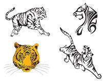 Tiger-Tierkreis-Jahr Stockfotografie