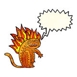 tiger tiger burning bright with speech bubble Stock Photo