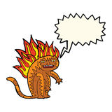 tiger tiger burning bright with speech bubble Stock Images