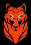 Tiger tigerhuvud rovdjur Röd tiger vektor illustrationer
