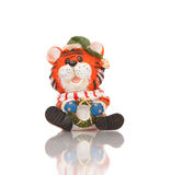 Tiger toy figurine Royalty Free Stock Images