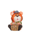 Tiger toy figurine Royalty Free Stock Photo