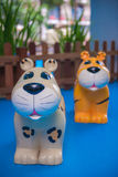 Tiger toy for seat in kid's club Royalty Free Stock Photo
