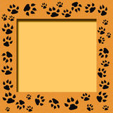 Tiger track frame. Tiger tracks frame scrapbook cutout page illustration royalty free illustration