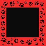 Tiger track frame. Tiger tracks frame scrapbook cutout page illustration vector illustration