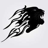 Tiger Tribal. Fire silhouette vector illustration Stock Photography