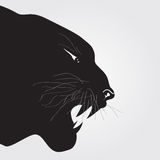 Tiger Tribal. Fire silhouette vector illustration Royalty Free Stock Photography