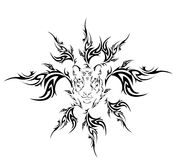Tiger tribal tattoo Royalty Free Stock Photography