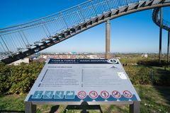 Tiger and turtle artwork in Duisburg stock photo
