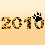 Tiger type numerals. New year sign concept. Royalty Free Stock Images