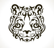 Tiger vector tattoo illustration Stock Image