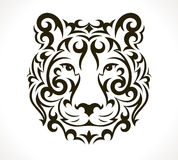 Tiger vector tattoo illustration Royalty Free Stock Photography