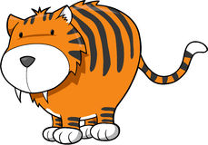 Tiger-vektorabbildung stock abbildung