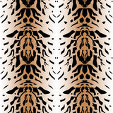 Tiger wild skin leather seamless pattern Stock Photography