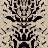 Tiger wild skin leather seamless pattern Royalty Free Stock Photos
