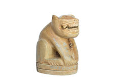 Tiger wood handmade by. Tiger wood  handmade amulet from thailand Royalty Free Stock Image