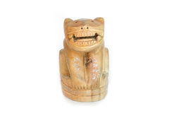 Tiger Wood Handmade amulet. From Thailand Royalty Free Stock Photography