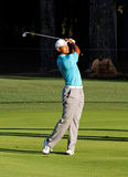 Tiger Woods. Johns Creek, Georgia, USA - August 10, 2011: Tiger Woods takes a shot during practice rounds at the 2011 PGA Championship tournament Royalty Free Stock Photography