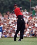 Tiger Woods in Action at Doral Country Club stock photos