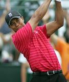 Tiger Woods die in Doral concurreren stock afbeelding