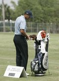 Tiger Woods at Doral in Miami stock photography