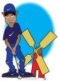 Tiger Woods en el curso de minigolf