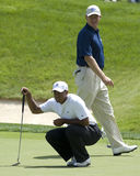 Tiger Woods/Ernie Els Photos stock