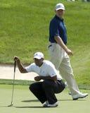 Tiger Woods/Ernie Els Fotografie Stock