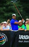 Tiger Woods im T-Stück Kasten Lizenzfreie Stockfotografie