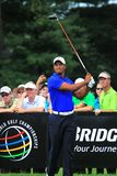 Tiger woods tee shot Stock Images
