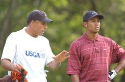 Tiger Woods u 2002 S открыто стоковое изображение