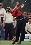 Tiger Woods w akcji przy Doral Country Club zdjęcie royalty free