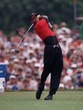 Tiger Woods w akcji przy Doral Country Club zdjęcia stock