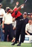 Tiger Woods w akcji przy Doral Country Club obraz stock