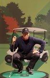 Tiger Woods. Wax statue at Madame Tussauds in London royalty free stock images