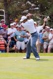 Tiger- Woodsvolles Schwingen 1 von 6 Stockfoto