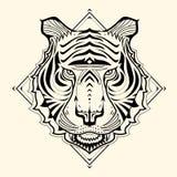 Tiger Zentangle Stockfoto